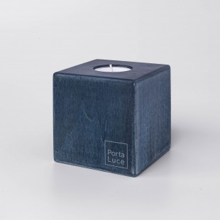 Cubo in legno Porta Luce