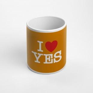Tazza I Love Yes arancione